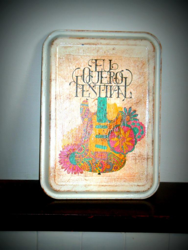 Upcycled baking tray tin sign