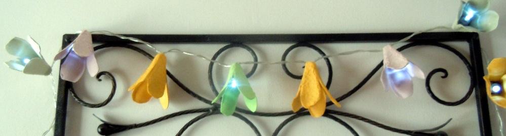upcycled egg carton, egg carton fairy lights, egg carton flowers