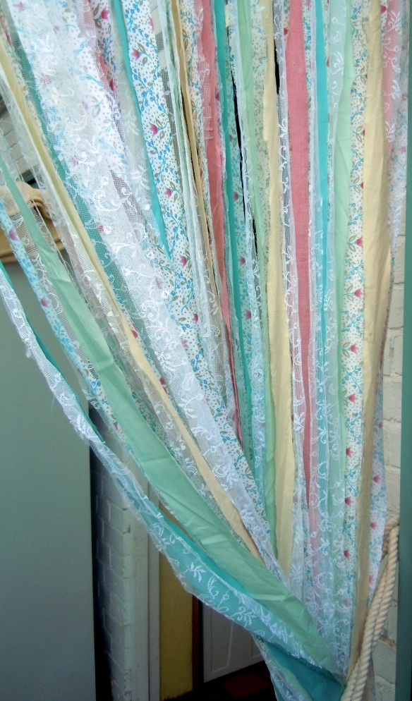 upcycled scrap curtain